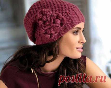 Модные женские вязаные шапки 2017: фото, схемы с описанием осень зима