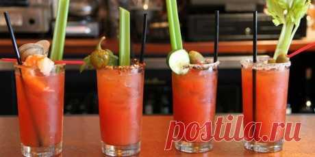 Кровавая Мэри - как приготовить коктейль в домашних условиях из водки и томатного сока по рецептам с фото