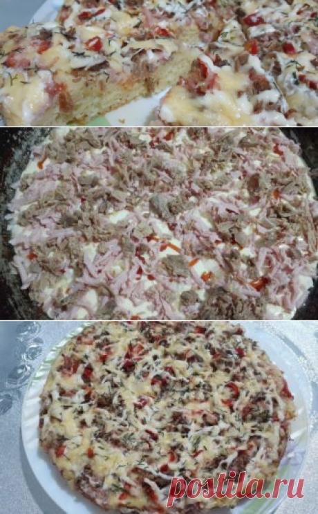 Ленивая пицца из жидкого теста | Еда