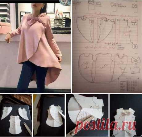 Моделирование необычной блузки — DIYIdeas