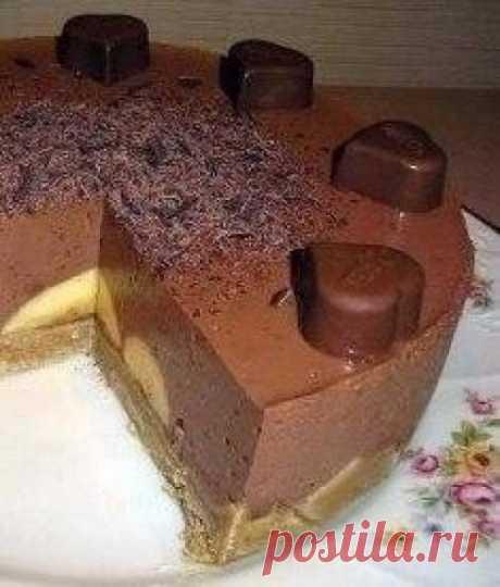 Шоколадно-банановый десерт БЕЗ ВЫПЕЧКИ