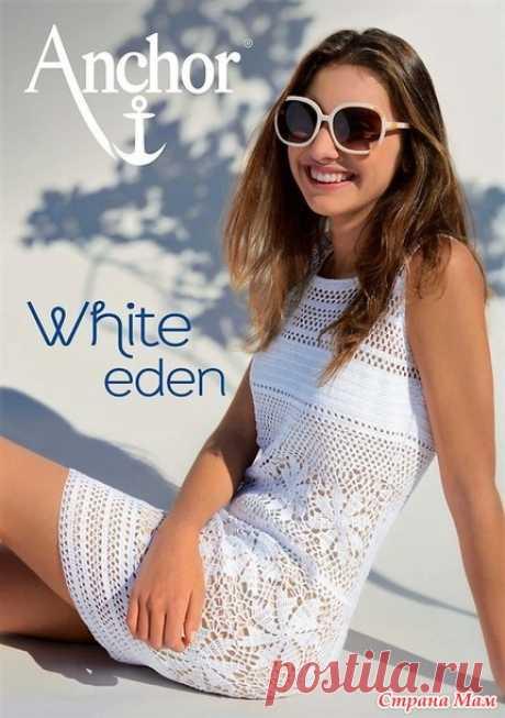 . El vestido blanco chiné. - todo en azhure... (La labor de punto por el gancho) - el País de las Mamás