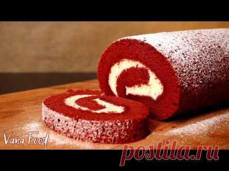 Рулет КРАСНЫЙ БАРХАТ | Очень нежный десерт к чаю!