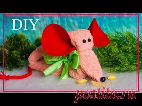 A towel mouse   МЫШКА из полотенца - YouTube