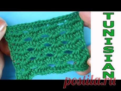 Узоры вязания   Тунисское вязание 23