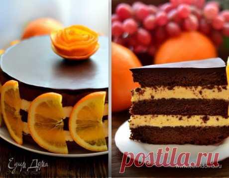 """Шоколадно-апельсиновый торт """"Зима, до встречи!"""". Ингредиенты: шоколад черный горький, вода, апельсиновый ликер"""