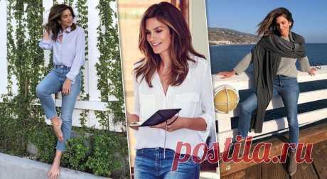 Правила создания образа с джинсами от супермодели Синди Кроуфорд . Милая Я