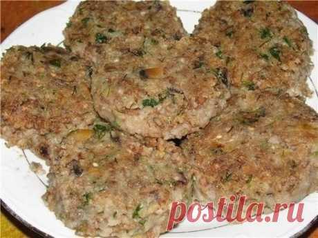 Как приготовить гречневые котлеты с грибами (постные) - рецепт, ингредиенты и фотографии