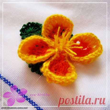 Цветы крючком - Мастер-классы | Цветы крючком - Цветочная душа