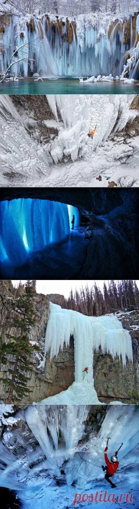 Удивительные замерзшие водопады по всему миру : НОВОСТИ В ФОТОГРАФИЯХ