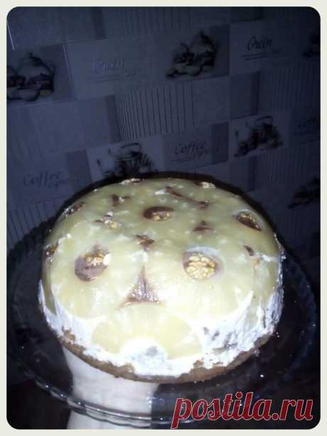 """Торт """"Ананасовый шар"""" - Простые рецепты Овкусе.ру"""