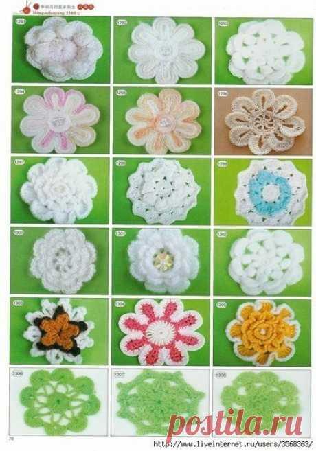 Цветы крючком (Уроки и МК по ВЯЗАНИЮ) Цветы крючком схемы вязания //pagead2.googlesyndication.com/pagead/js/adsbygoogle.js (adsbygoogle = window.adsbygoogle || []).push({});
