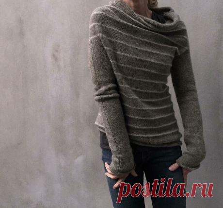 Интересные модели свитеров с воротником качели (связаны спицами) | ВЯЗАНИЕ СПИЦАМИ И КРЮЧКОМ | Яндекс Дзен