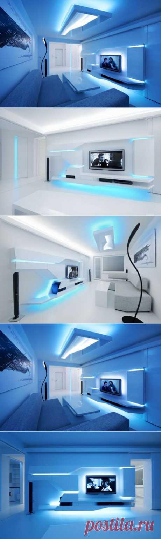 (+1) тема - Квартира со светодиодной подсветкой.   Школа Ремонта