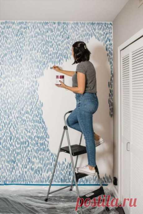 Только краска: сверхлёгкий способ украсить стену за один вечер | Краше Всех