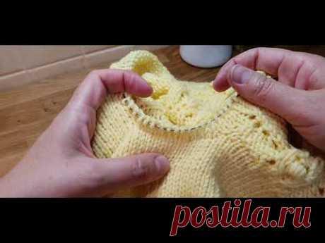 Идеальные подрезы. Как вязать рукав от подрезов в реглане сверху или в изделии с азиатским ростком.