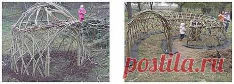 Из свежих прутьев вербы сделаете компостер, живую изгородь на даче и домики для  :: Цветущая дача