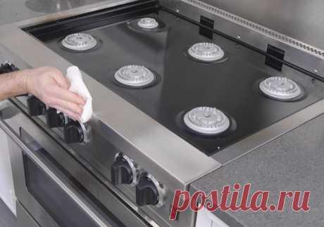 Как быстро отмыть плиту без дорогой химии