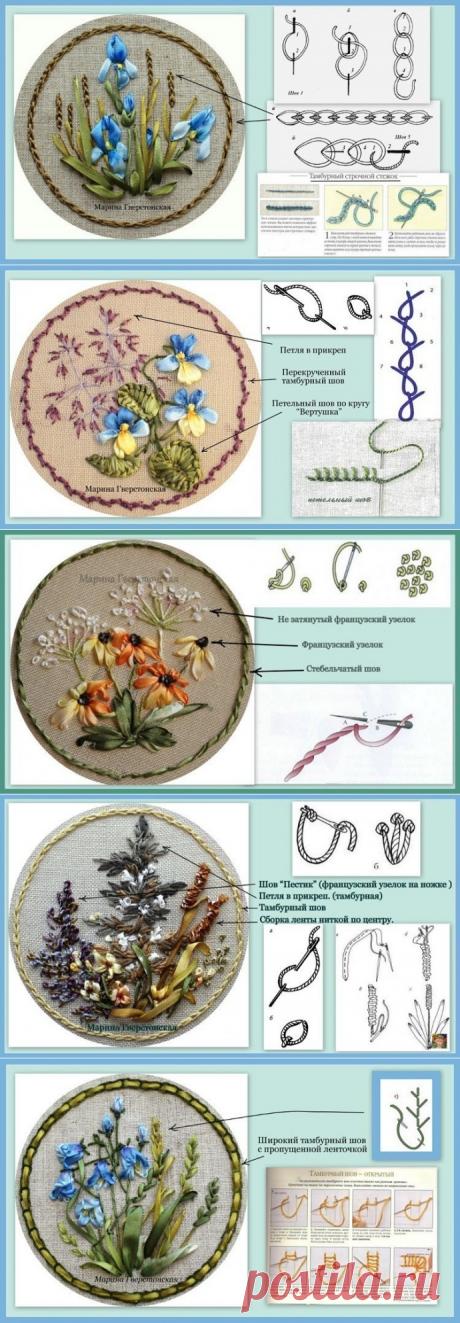 Основы вышивки лентами