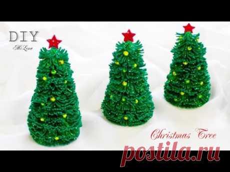 ЕЛОЧКА ИЗ ГЛИТТЕРНОГО ФОАМИРАНА, МК / DIY EVA Foam Paper Christmas Tree