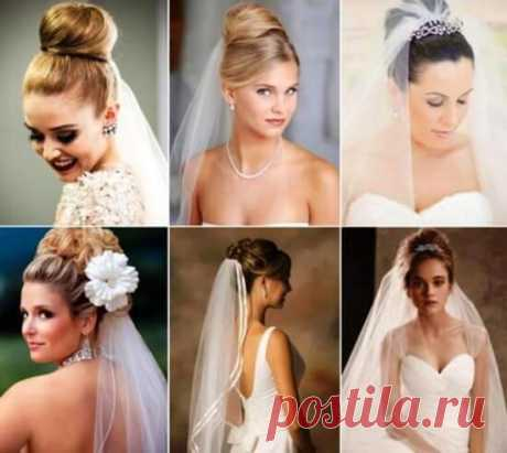 Красивые свадебные прически с фатой, фото и особенности