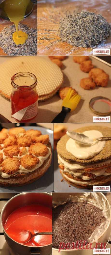 Маково-кокосовий торт / Торти / Кукорама — смачні рецепти!