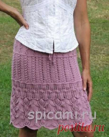 Ажурная многослойная юбка спицами   Вязание спицами, крючком, уроки вязания