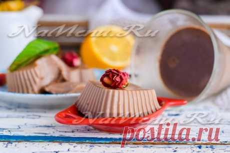 Шоколадное желе: рецепт с фото