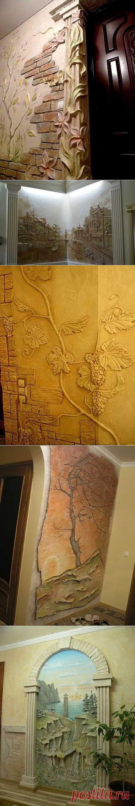 Потрясающие художественные идеи в отделке стен / Всё самое лучшее из интернета