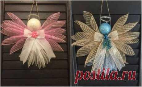 Восхитительные ангелочки из декоративной сетки. Идеи и Мастер-класс! Если вы еще сделали ангелочка к приближающемуся празднику Рождества, то эта подборка...