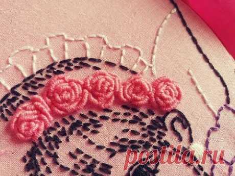 💎 Haftowanie róży krok po kroku 10k - Embroidery rose designs step by step