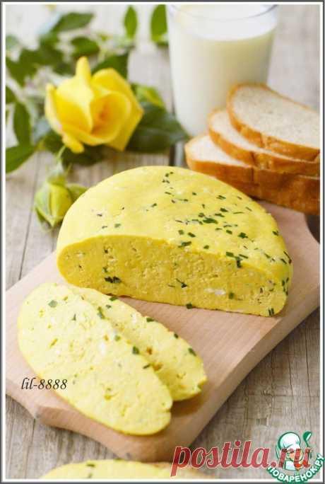 Домашний сыр с зеленым луком и тмином - кулинарный рецепт