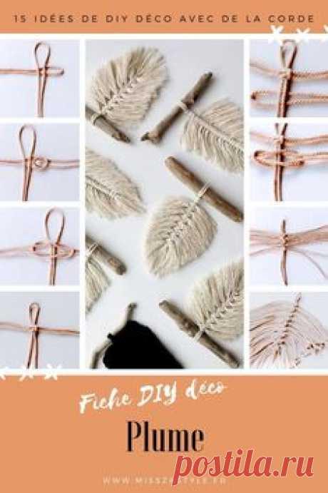 15 Deco DIY Concepts with Rope  MissZaStyle   Decor Weblog #decor #ideas #misszastyle