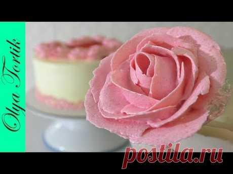 Розы из КРЕМА ЧИЗ Розы из творожного крема УПАКОВКА ТОРТА
