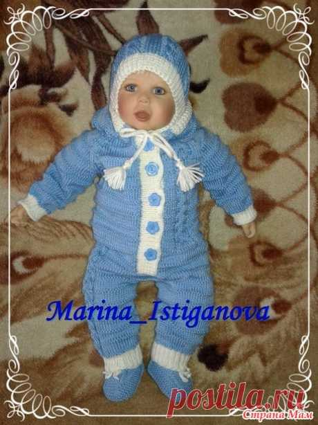 Мой комбинезон для новорожденного (с описанием) - Вязание для детей - Страна Мам