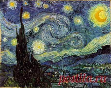 """Винсент Ван Гог и его картина """"Звездная ночь над Роной"""""""