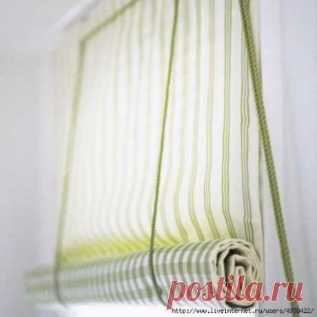 Рулонная штора на пластиковое окно. / Прочие виды рукоделия / Шитье