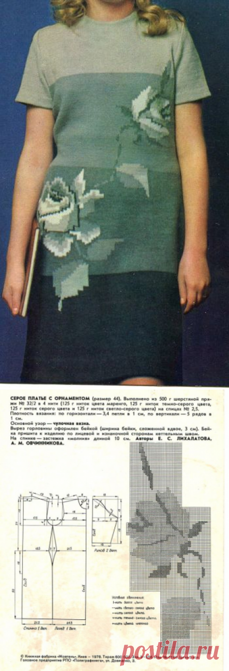 Платье с розами