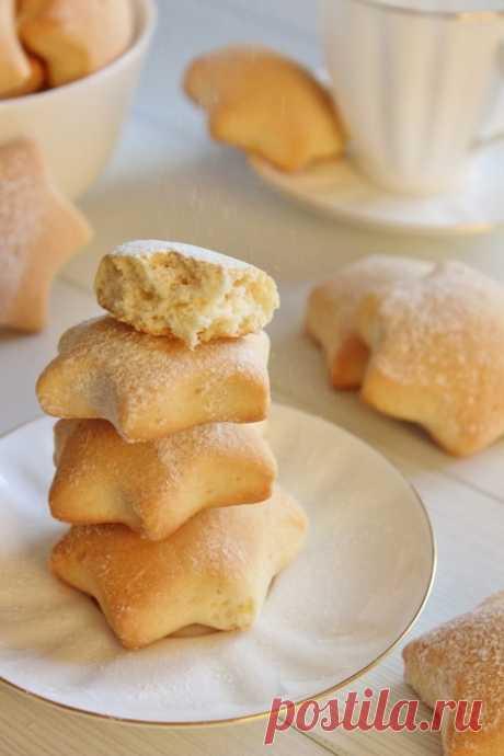 Кулинария>Домашнее СМЕТАННОЕ печенье.