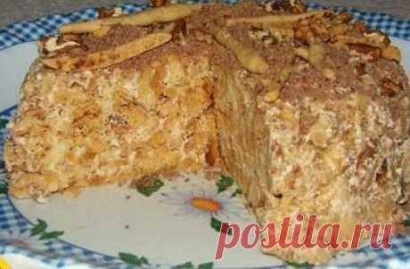 Моя копилка - Кухня: Сочный и сладкий тортик без выпечки
