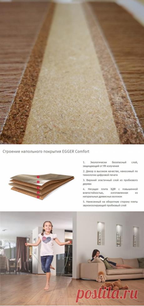 Пробковый ламинат Egger Comfort - описание, структура, характеристики