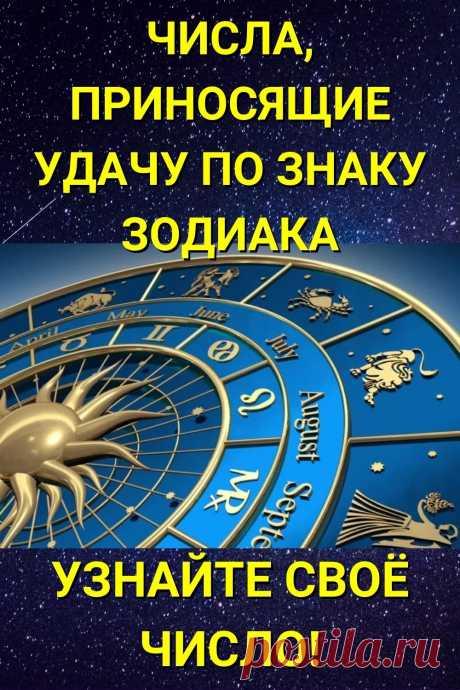 Числа, приносящие удачу по знаку Зодиака. Узнайте свое число!