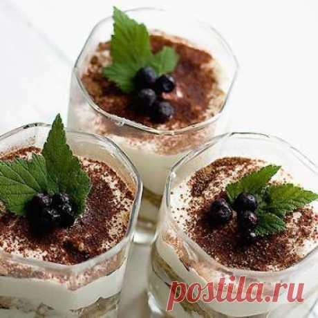 Кофейный тирамису без вреда для талии - рецепт с рачетом калорийности и БЖУ