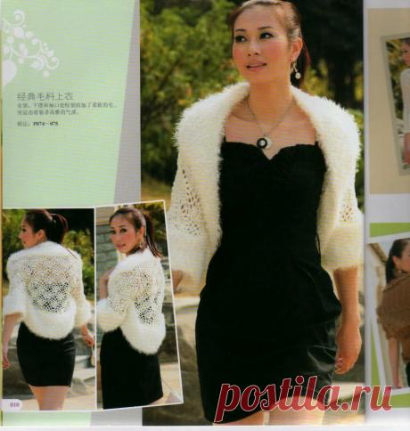Десять очаровательных болеро из журнала Crochet sweater 2009 BIANZHI со схемами. | pro100stil | Яндекс Дзен