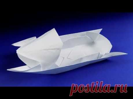 How to make a paper snowmobile. Origami snowmobile