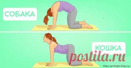 6 простых упражнений от болей в спине