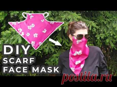 DIY Scarf Face Mask \\ How to make a Scarf Mask Tutorial with FREE Printable Pattern