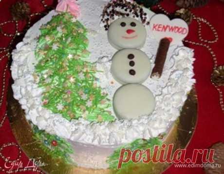 Торт «Новогодняя мечта». Ингредиенты: яйца куриные, сахар, сахар ванильный