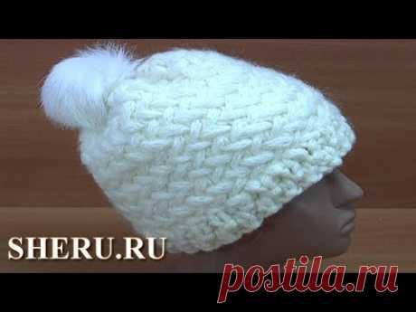 Супер шапка за один вечер Урок 249