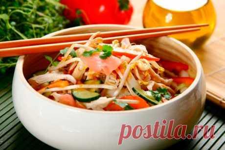 Салат из пекинской капусты с курицей – пошаговый рецепт с фото.